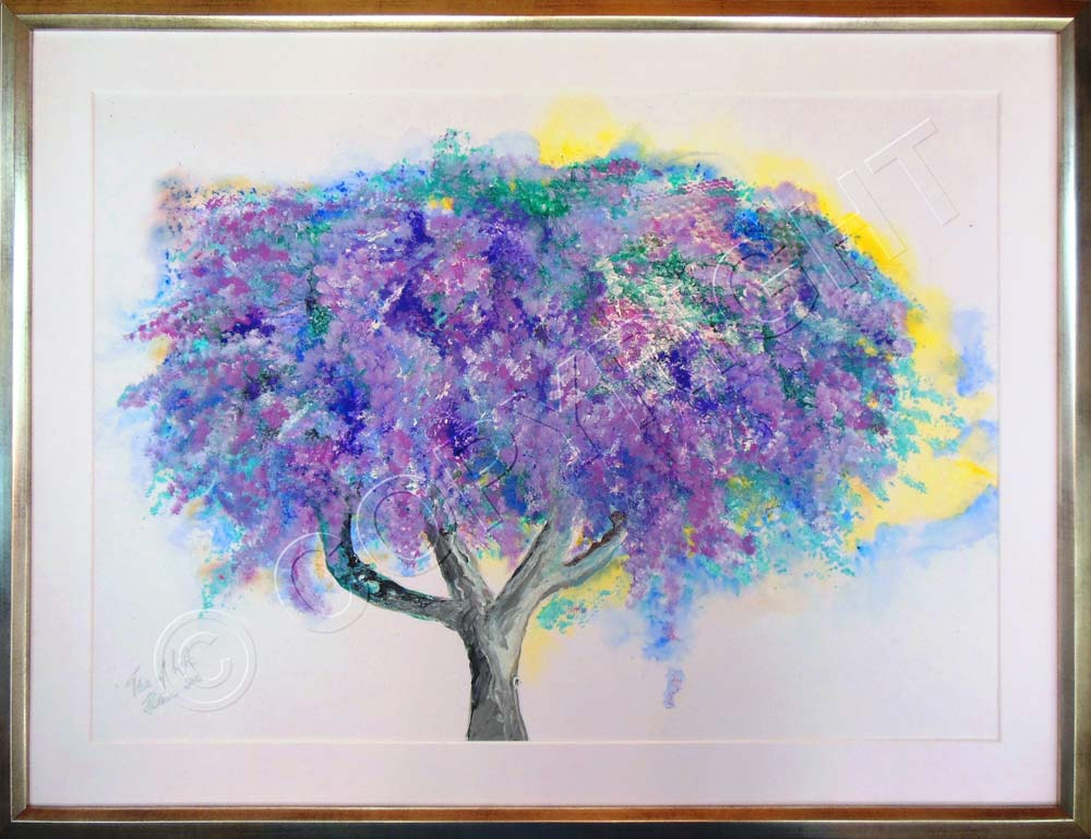 Painting of Jacaranda