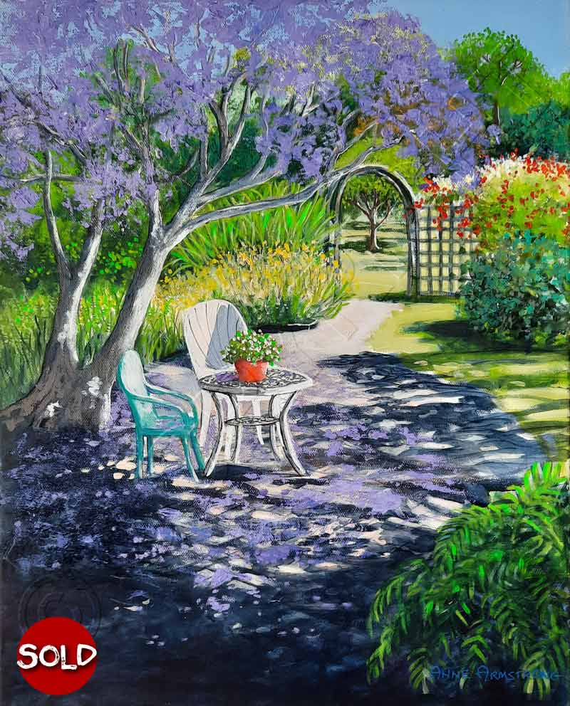 Painting of Country Garden