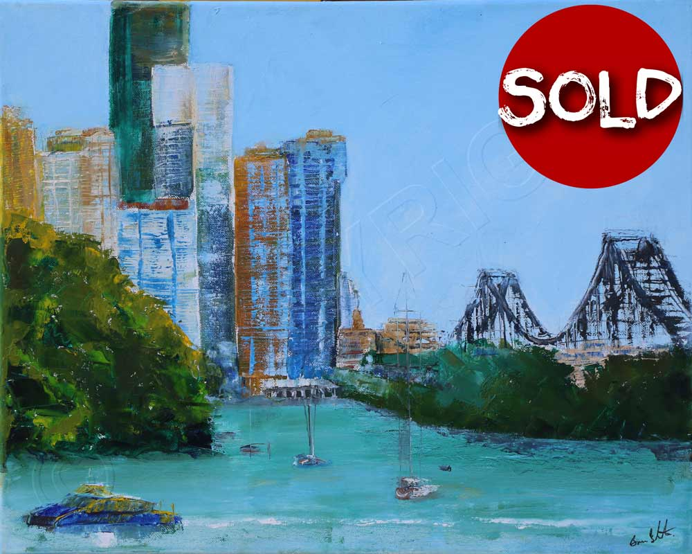 Painting of Brisbane River