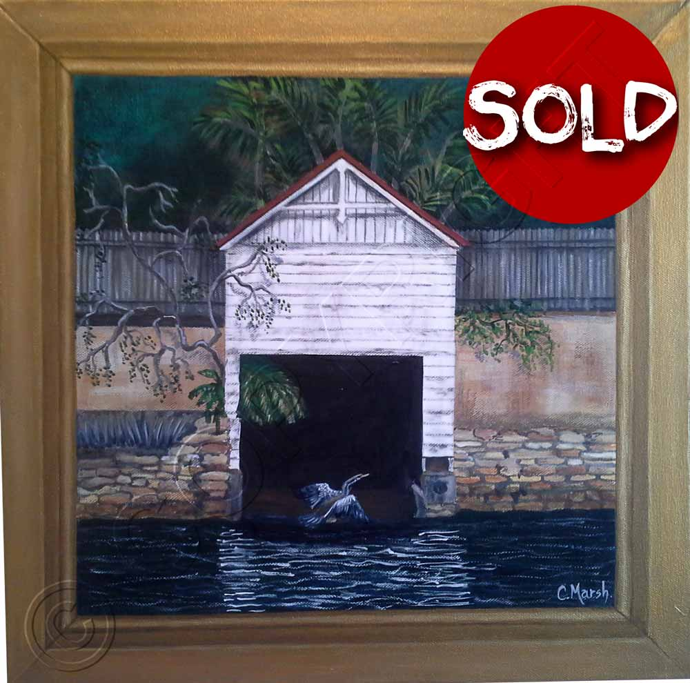 Painting of Boat Shed