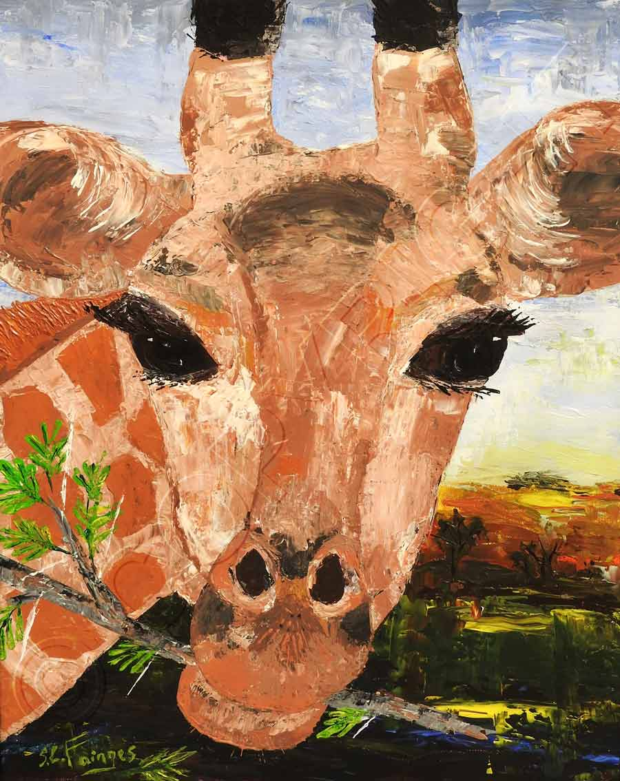 Painting of Giraffe