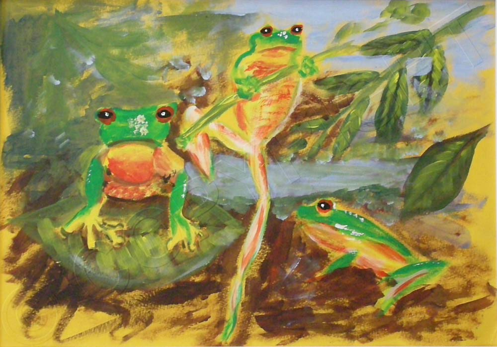 Painting of Frogs