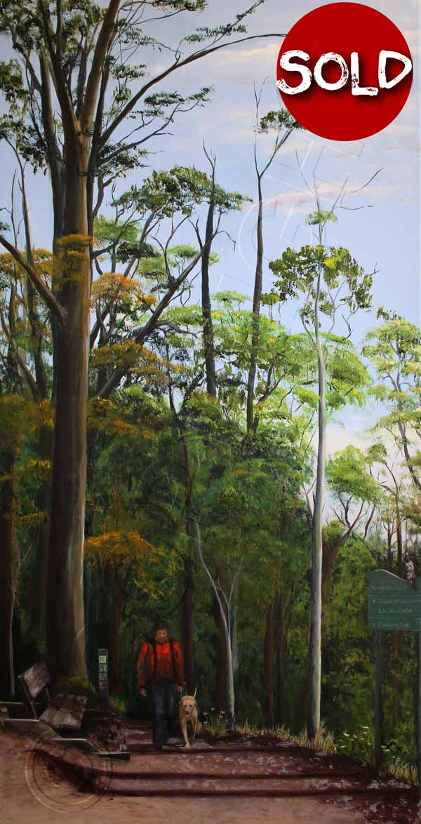 Painting of Mt Coot-tha