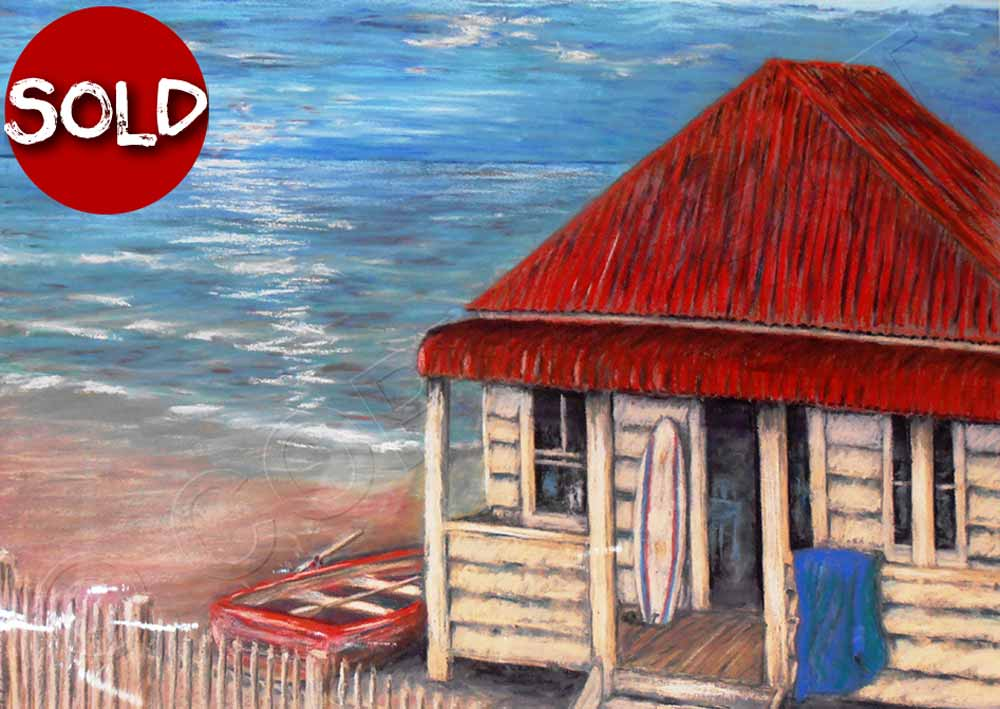 Painting of Beach Shack