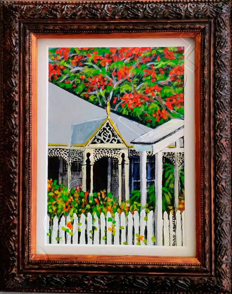 Painting of Queenslander