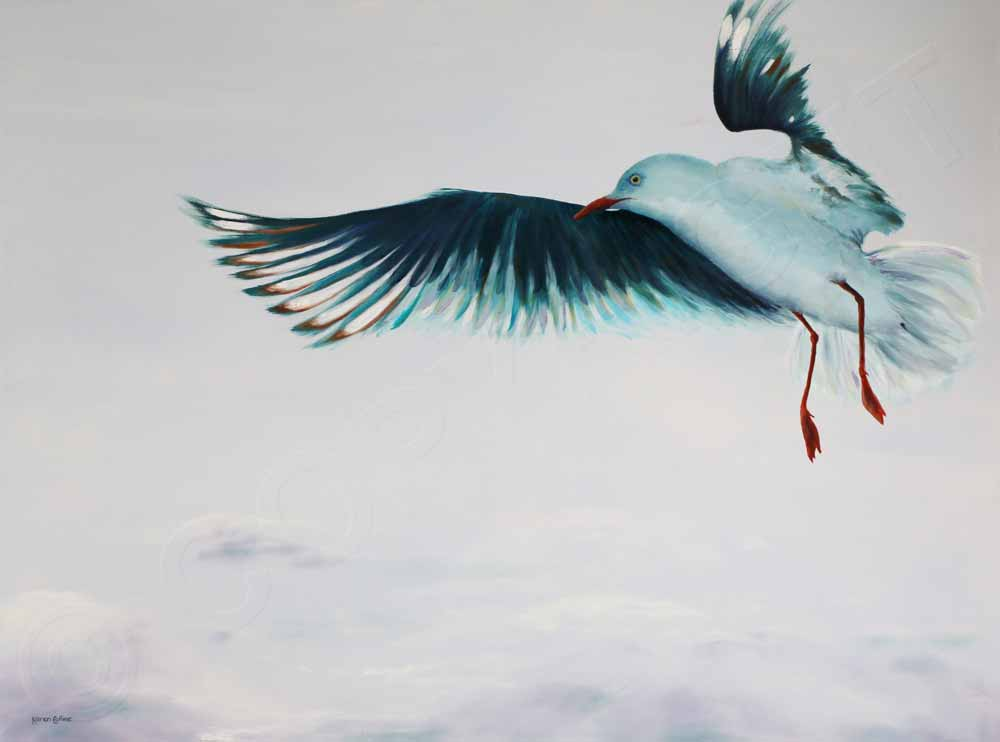 Painting of Seagull