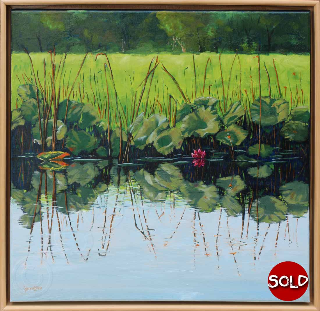 Painting of Waterlilies