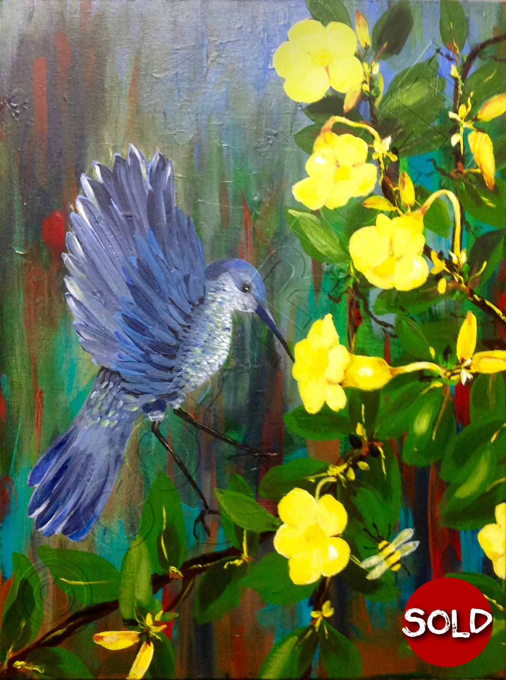 Buy art art for sale brisbane artist acrylic for Flower paintings on canvas
