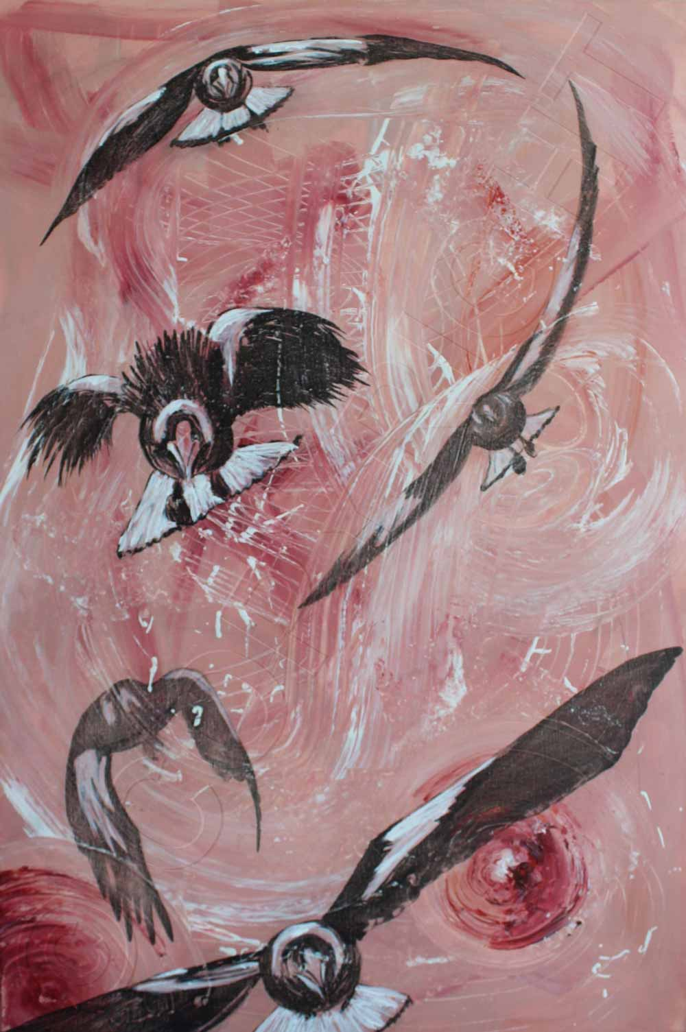 Painting of Magpie